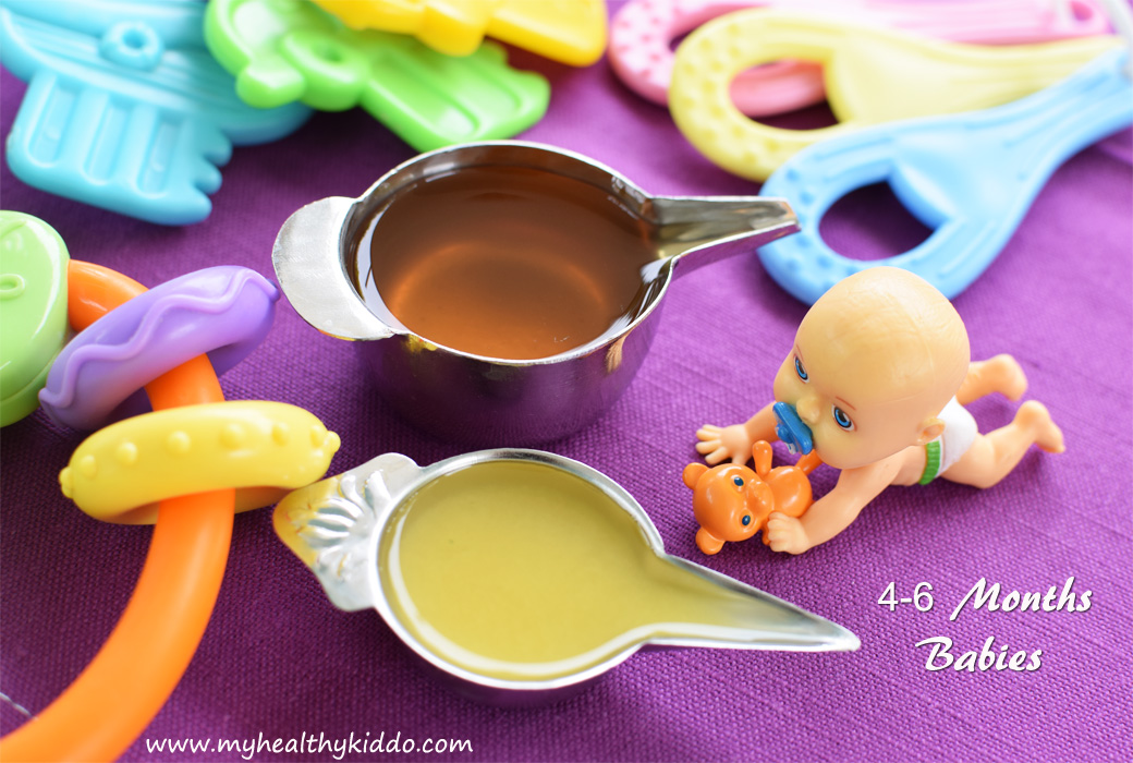 Food for 4 to 6 Months Babies