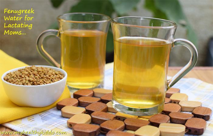 Fenugreek Water for Lactating Moms