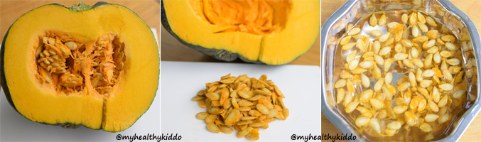 Home made Pumpkin Seeds Powder Step-1