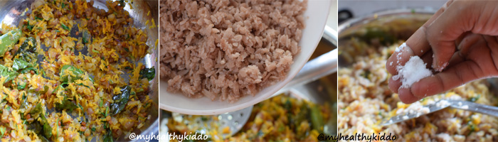 How to make Red Aval Upma Step-5