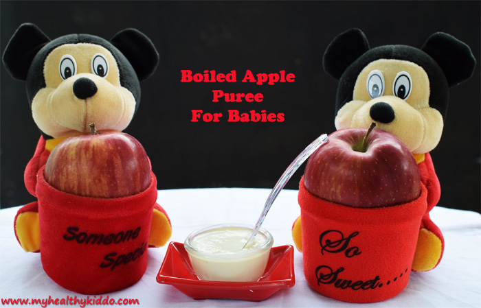 Boiled Apple Puree for Babies pic 1