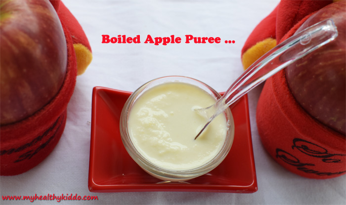Boiled Apple Puree for Babies pic 2
