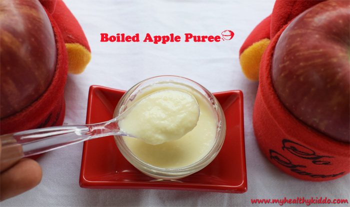 Boiled Apple Puree for Babies pic 3