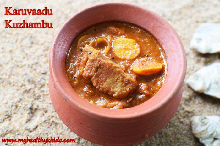Dry Fish Karuvaadu Kulambu-2