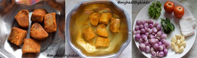 How to make Dry Fish Karuvaadu Kulambu Step2