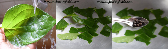 Betel leaves Vetrilai kashayam for cold and cough-1