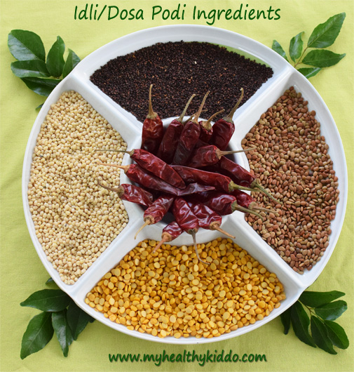 Ellu Kollu Dosai Idli podi Ingredients