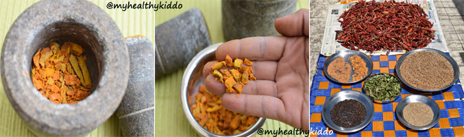 How to make Sambar Powder step 4