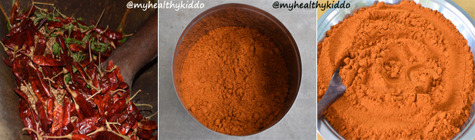 How to make Sambar Powder step 5