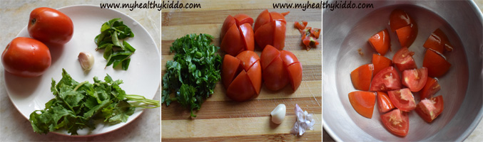 How to make tomato rasam for babies step-1
