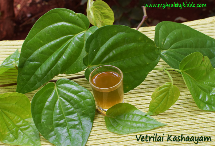 Natural cold and cough remedy with Betel leaves-1