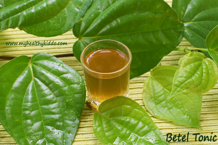 Natural cold and cough remedy with Betel leaves-2