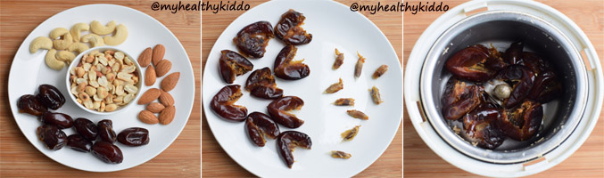 How to make Nuts and dates Laddoo step-1