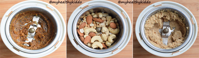 How to make Nuts and dates Laddoo step-2