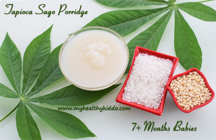 Tapioca Sago porridge for babies-1