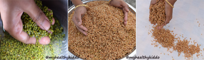 How to make Chapathi Flour at home step-3