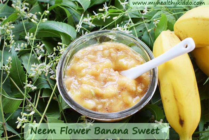 Neem Flower Banana Sweet Recipe-2