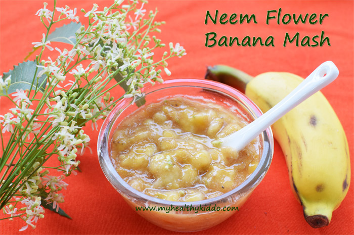 Neem Flower Banana Sweet Recipe-3