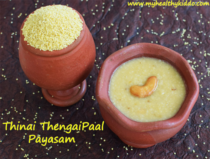 Foxtail Millet Kheer using coconut milk-1