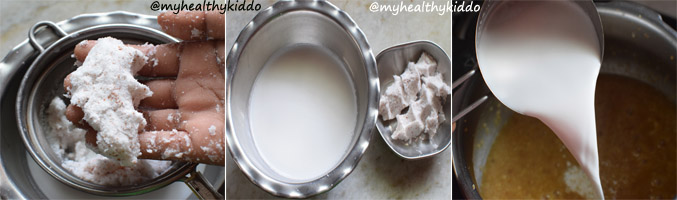 How to make Thinai Thengai paal payasam step-5
