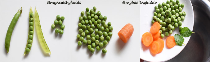 How to make carrot peas puree for babies step-1