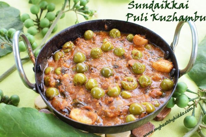 Sundakai puli kulambu recipe-2