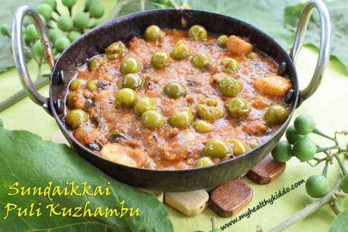 Sundakai puli kulambu recipe-3