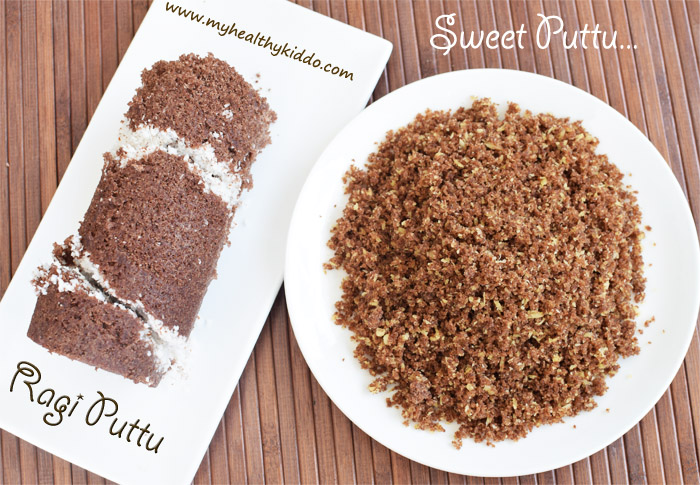 Sweet Finger Millet Puttu 3