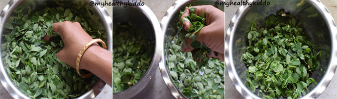 How to clean drumstick leaves step-3