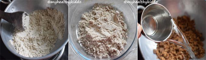 How to make sathu maavu laddoo step 1a