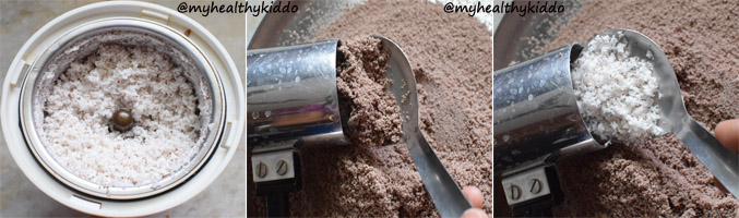 How to make sweet Ragi Puttu 4
